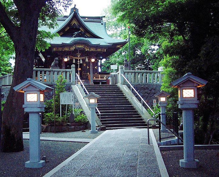 ▲白旗神社御社殿
