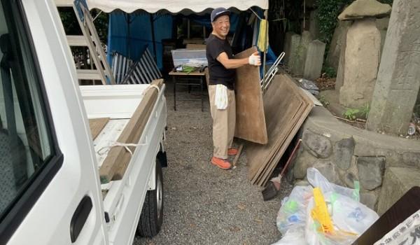 横町山車囃子保存会の小峯会長もいらっしゃいました。
