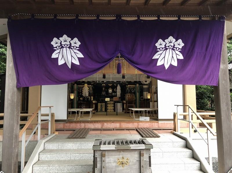 社紋幕 神輿殿