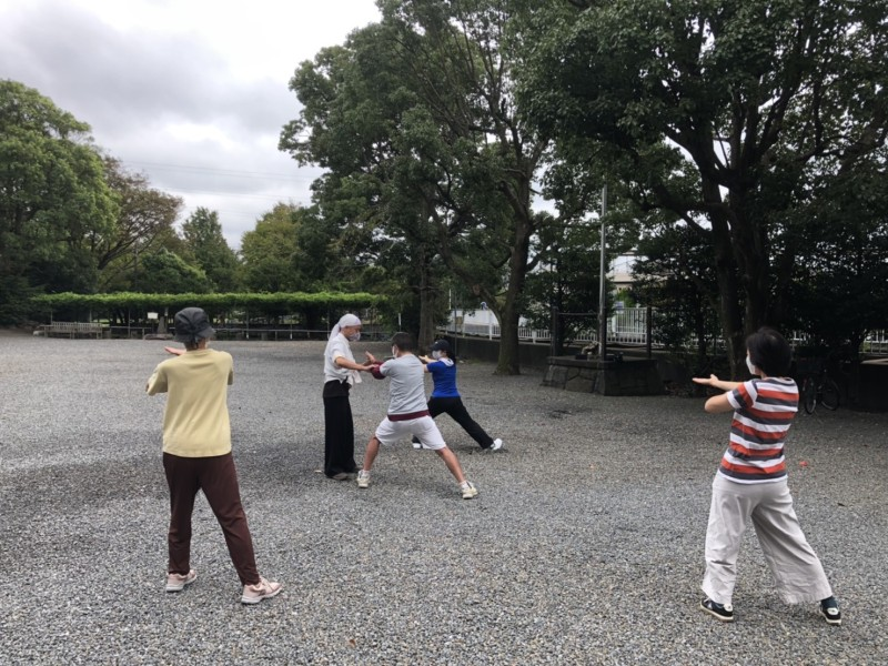 神社De太極拳